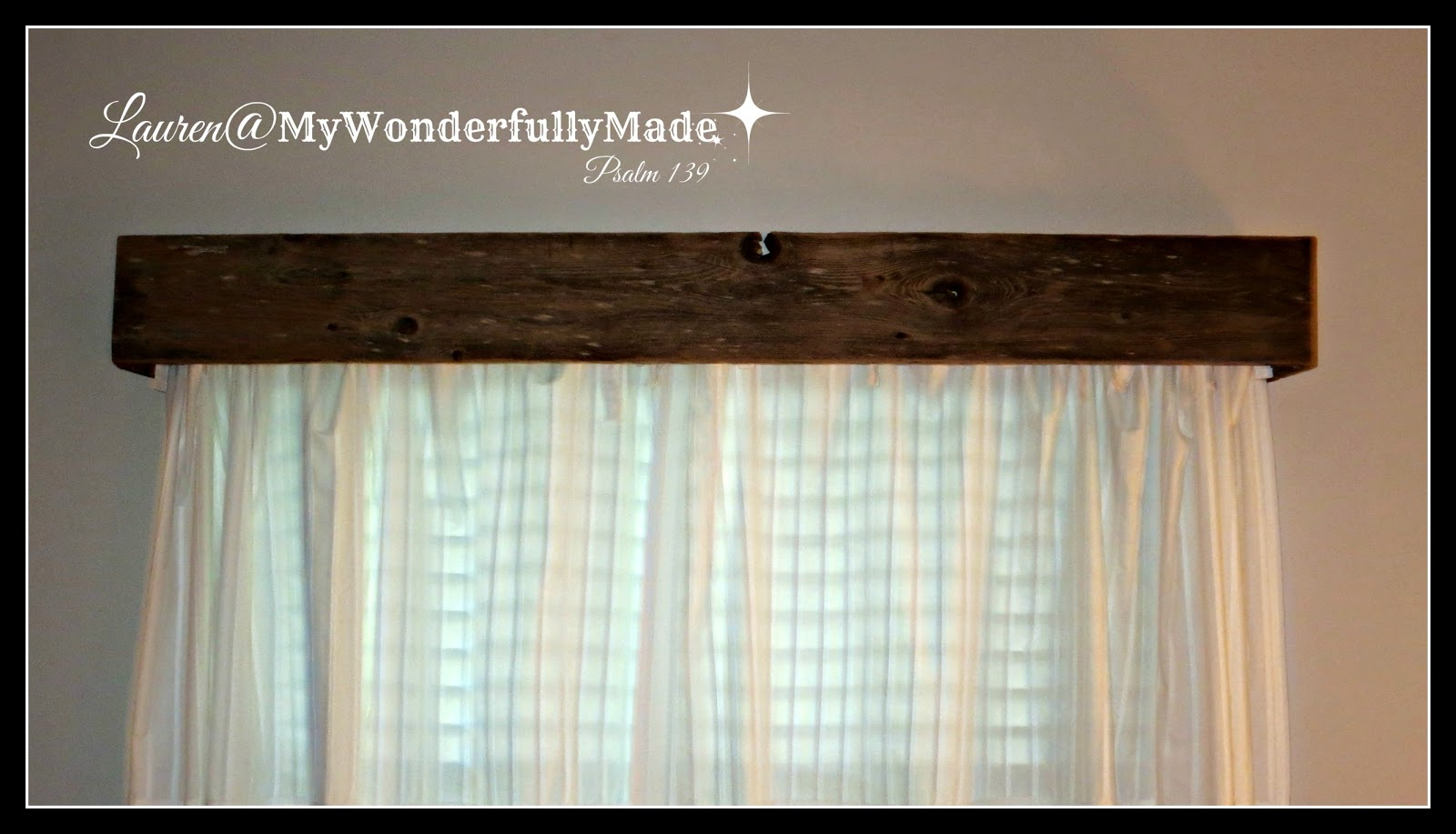 "Wonderfully Made"" EASY Reclaimed Wood Cornice"