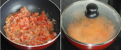 grated tomato added