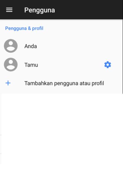 Pengaturan Akun HP Android