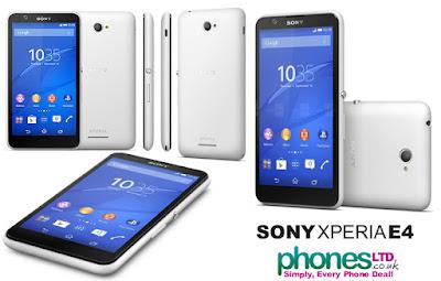Spesifikasi Sony Xperia E4           Sony akhirnya mengeluarkan produk smartphone terbarunya, xperia E4. Dengan dikeluarkannya produk terbarunya itu persaingan smartphone kelas mid end menjadi semakin sengit. Ponsel ini menjadi penerus kesuksesan dari E3 yang dirilis ditahun sebelumnya.     Terjadi banyak peningkatan dari segi hardwarnya. Namun sangat disayangkan karena sony membuang teknologi NFC dan LTE yang telah dimiliki xperia E3 sebelumnya. Ponsel ini memang cocok untuk harga kurang dari 2 jutaan melihat dari spesifikasi yang diberikan. Selain itu sony juga mengganti prosesornya menggunakan mediatek yang familiar dengan ponsel cina/lokal. Xperia E4, Handphone Terbaru Sony     Ponsel ini cocok digunakan untuk media entertainment karena memiliki layar lebar 5 inch yang didukung dengan RAM 1GB dilengkapi prosesor Quad Core buatan Meditek.Yang menjadi andalan dari ponsel keluaran sony ini adalah pada daya tahan baterainya yang memiliki kapasitas yang besar dan dapat memutar musik hingga 2 hari. Dilihat dari fitur yang diberikan ponsel ini tetap menjadi ponsel yang berkualitas, karena sony merupakan pabrik buatan jepang yang sudah lama berkecimpung dalam dunia smartphone, sony sudah berpengalaman dalam pembuatan smartphone. Xperia E4, Handphone Terbaru Sony.  Kelebihan  Jaringan mendukung 2G GSM dan 3 HSDPA  Micro-SIM  Tipe layar IPS capacitive touchscreen, 16M colors  Ukuran layar 5.0 inches  Pelindung layar Scratch-resistant glass