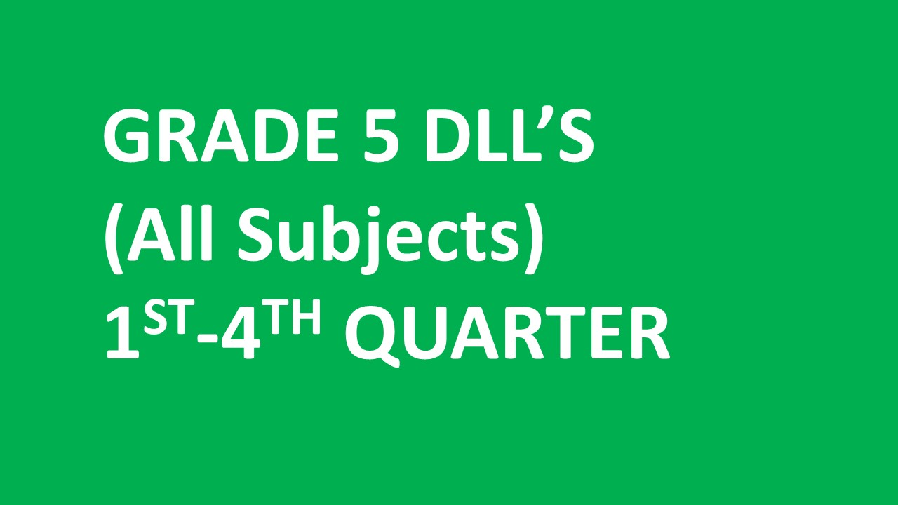 Grade St 4th Quarter All Subjects