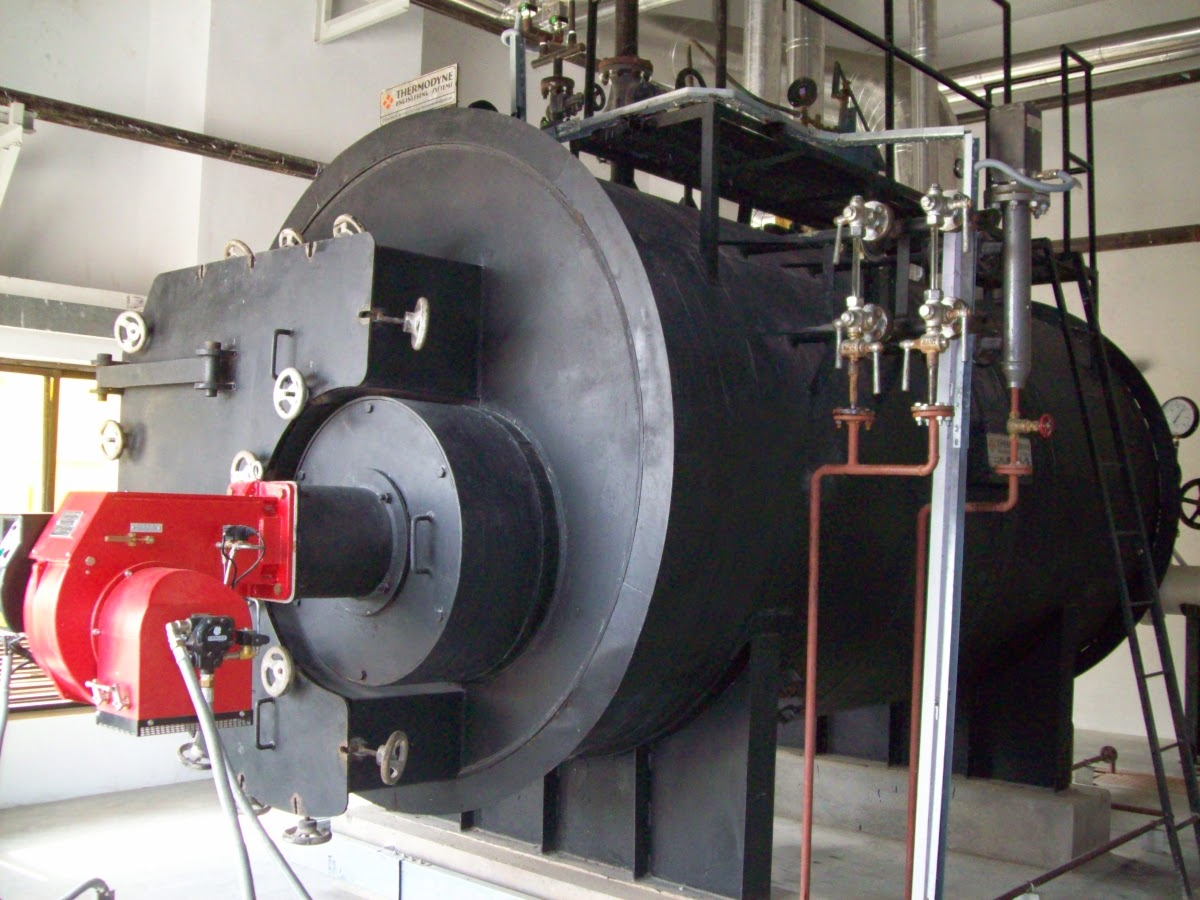 Three pass smoke-tube design Oil / Gas fired boilers