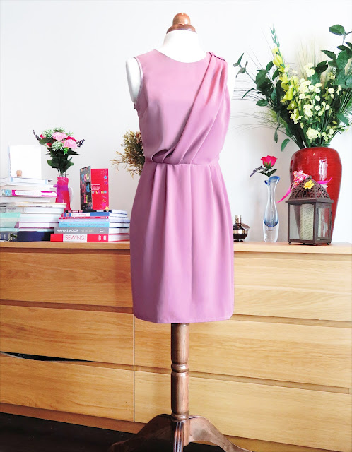 Copycat sewing self drafted draped dress