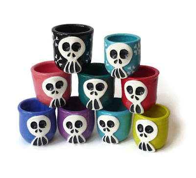 Straight from the Kiln!! Skully Shot Cup/Glasses!