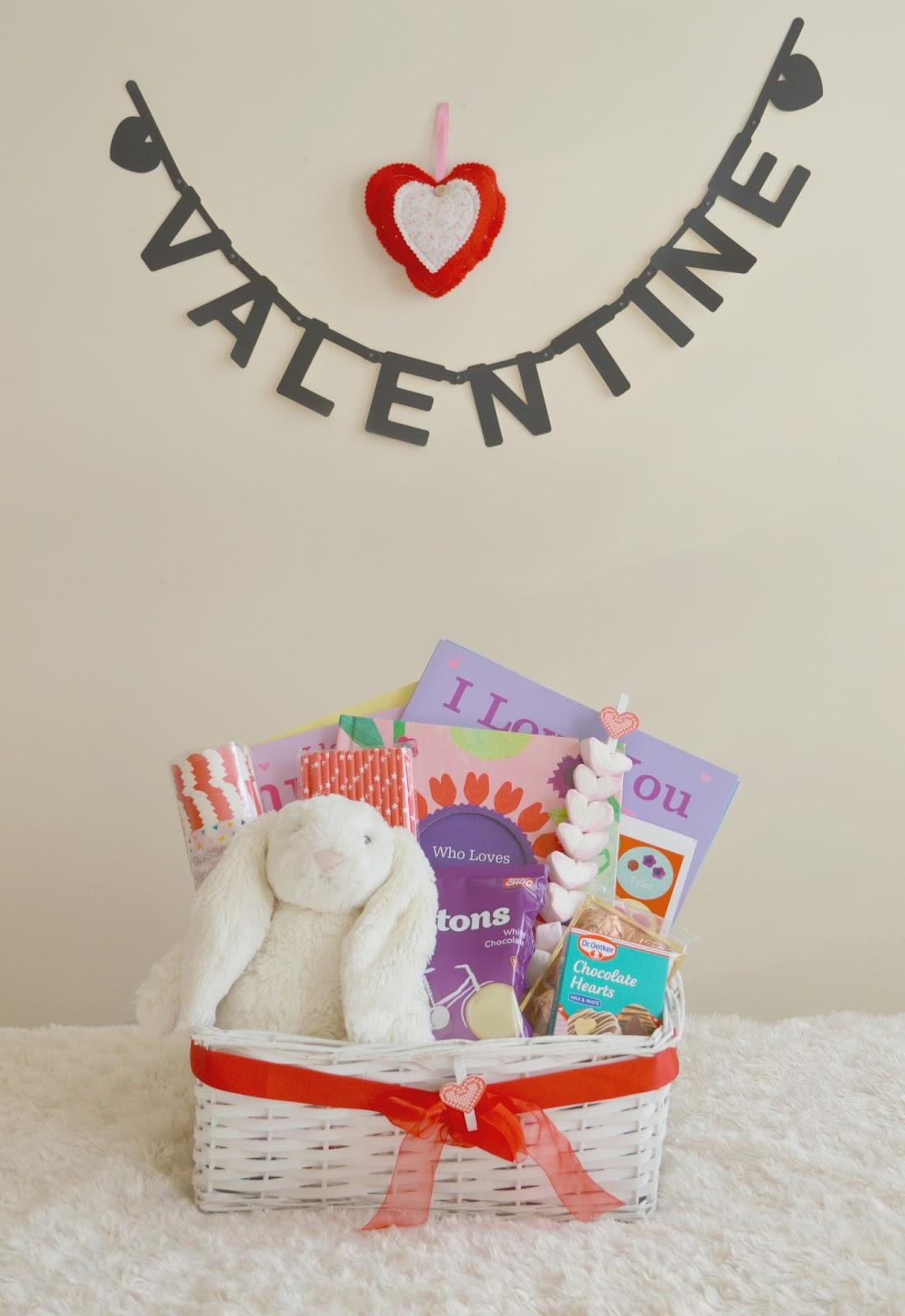 Valentine S Day Gift Basket For Children Dolly Dowsie