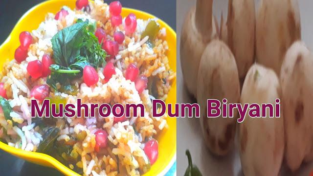 Image of Mushroom Dum Biryani