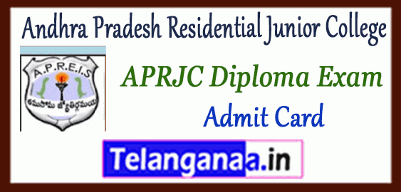 APRJC Andhra Pradesh Residential Junior College 2019 Polytechnic Time Table Admit Card