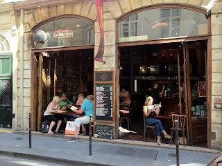 A Parisian pub in the Marais area of Paris