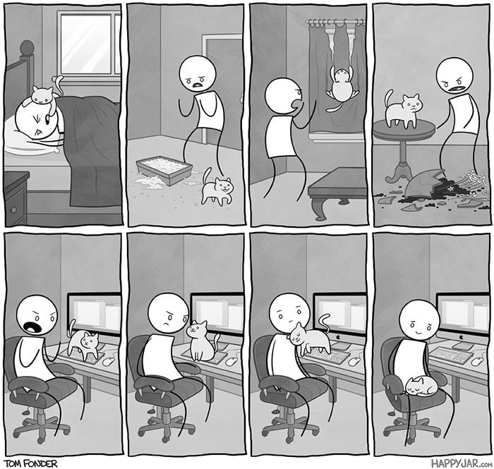 27 Kartun Yang menggambarkan Realitas Seekor Kucing
