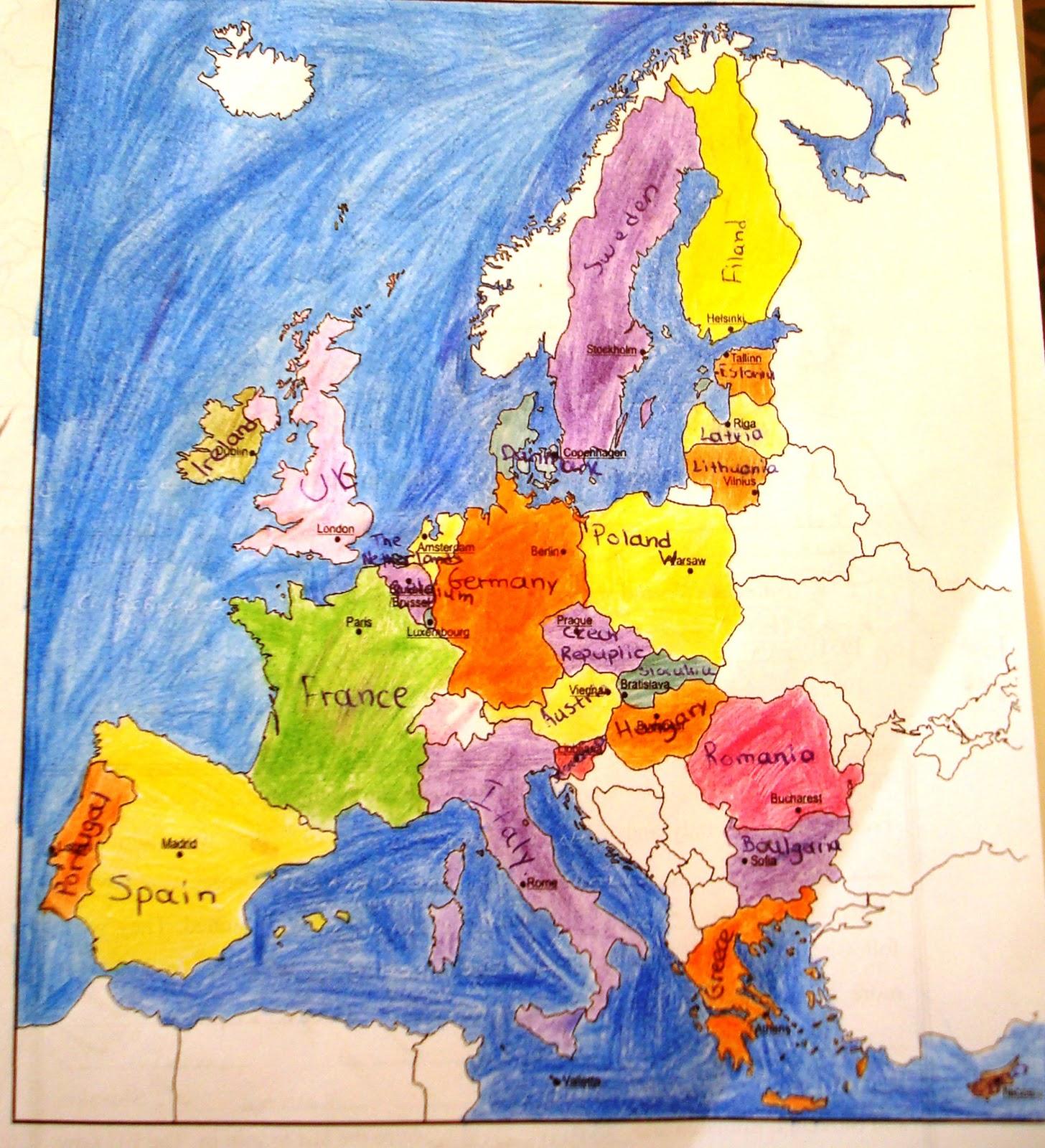 Euro Explorers 16 European Union Countries And Capital