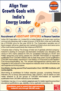 IOCL Assistant Officer Recruitment 2020 Apply Online