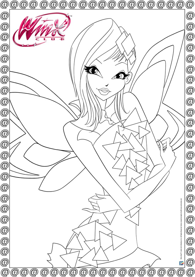 winx club tynix coloring pages - photo#7
