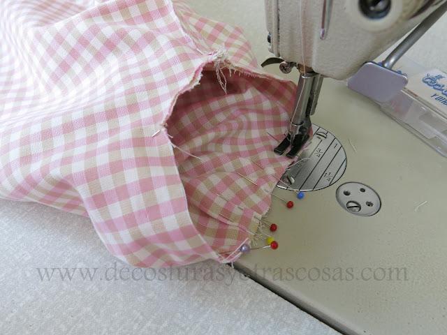como coser manga con pequeños pliegues