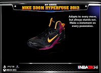 NBA 2K14 Nike Zoom Hyperfuse 2013