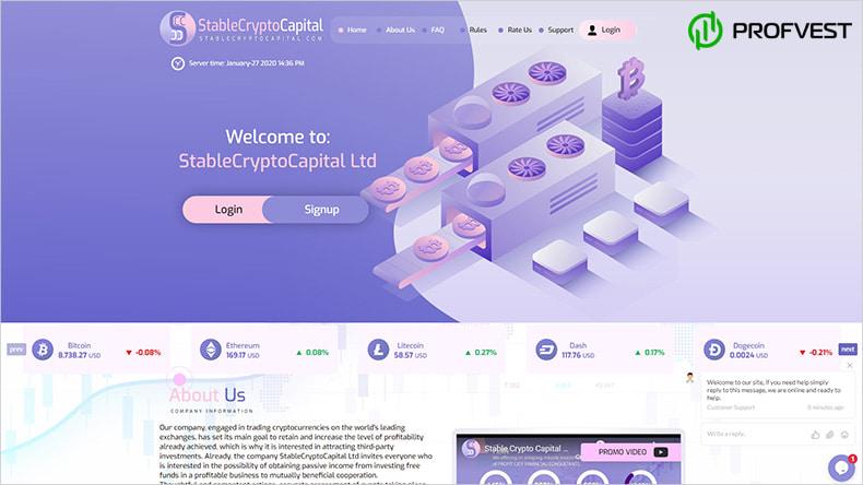 StableCryptoCapital LTD обзор и отзывы HYIP-проекта