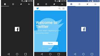 افضل تطبيق لفتح مواقع التواصل الاجتماعي facebook ,  Twitter , Instagram , Google Plus في برنامج واحد