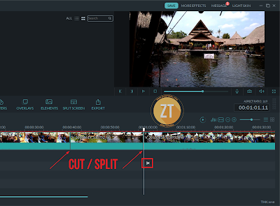 Speed up & speed down video dengan Filmora