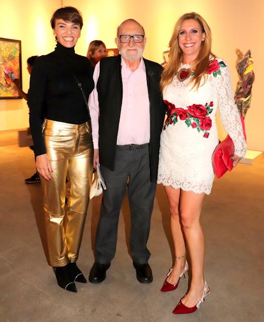 Bárbara Diez, Luis Felipe Noé y Amalia Amoedo en ArteBA