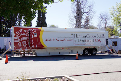 Mobile Dental Clinic manufactured by Odulair for USC in Los Angeles, CA