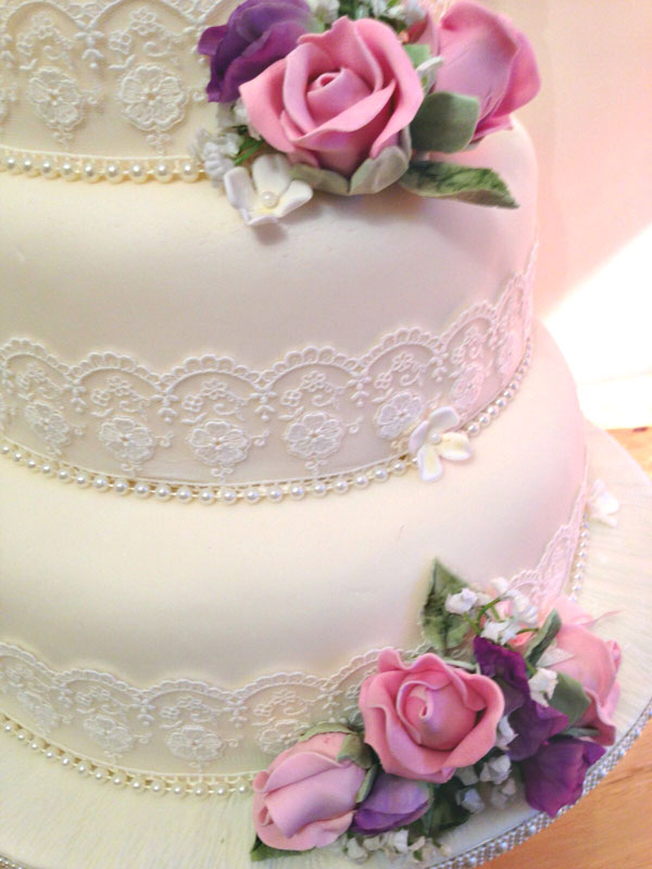 lace ribbon for wedding cake with ribbon chris and s wedding items 16692