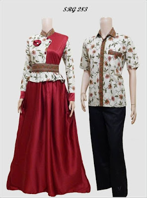 Model Baju Couple Suami Istri Terbaru Untuk Hari Raya 2019