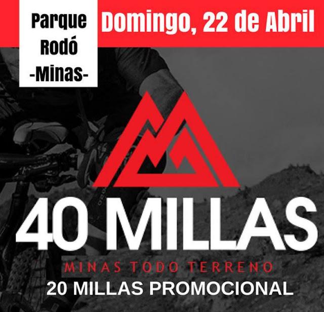 MTB - 40 millas en Minas (Lavalleja, 22/abr/2018)