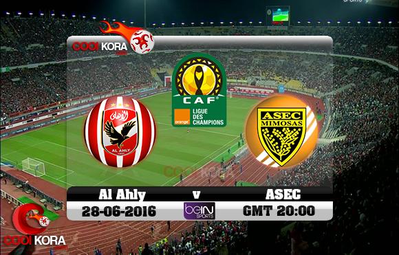 مشاهدة مباراة الأهلي وأسيك اليوم 28-6-2016 دوري أبطال أفريقيا
