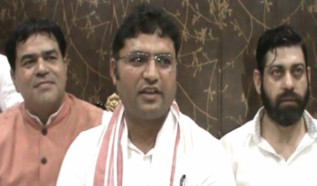 Dr. Ashok Tanwar made the Congress leader of Tigauen Sunil Nagar, the General Secretary of OBC Cell