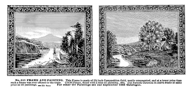 1885 mass-produced paintings for home furnishing