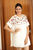 Lavanya Tripathi in Summer Style Spicy Short White Dress at her Interview  Exclusive 209.JPG