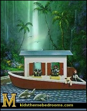 Rainforest jungle theme wall murals  jungle wall murals