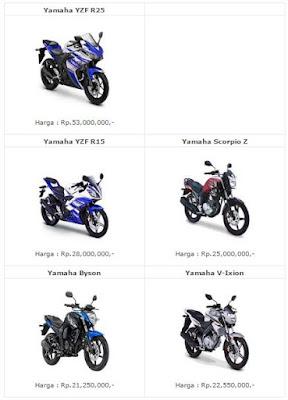 harga motor sport yamaha