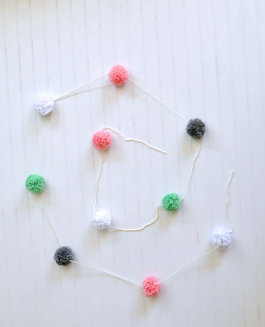 no sew tulle flower garland tutorial