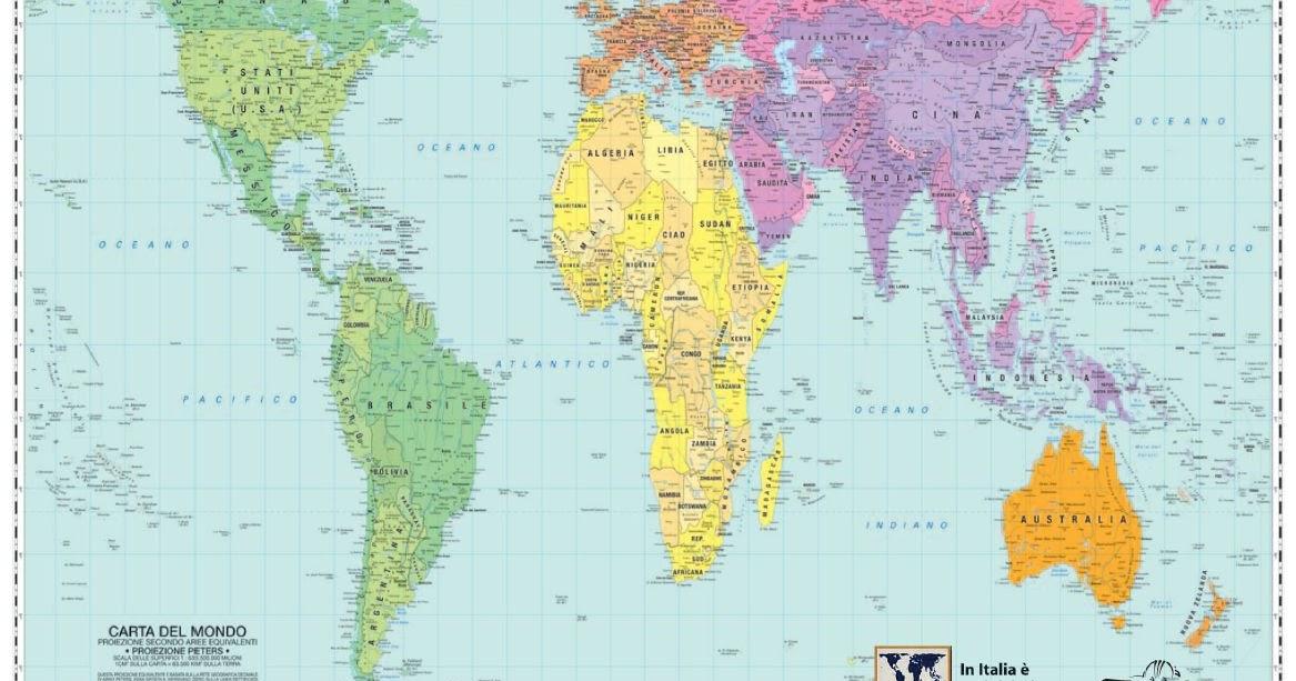 Il blog della santa caterina le carte di mercatore e le - Foto della mappa del mondo da stampare ...