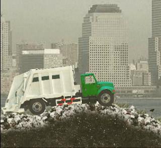 لعبة سيارة نقل القمامة وتنظيف المدين