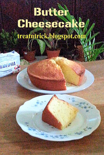 Butter Cheesecake Recipe @ treatntrick.blogspot.com