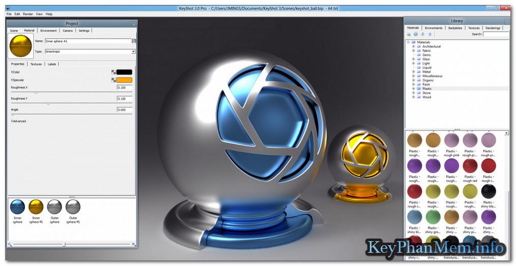 Download Luxion Keyshot Pro 7.3.40 Full Key,Phần mềm tạo Render 3D sống động và chuyên nghiệp