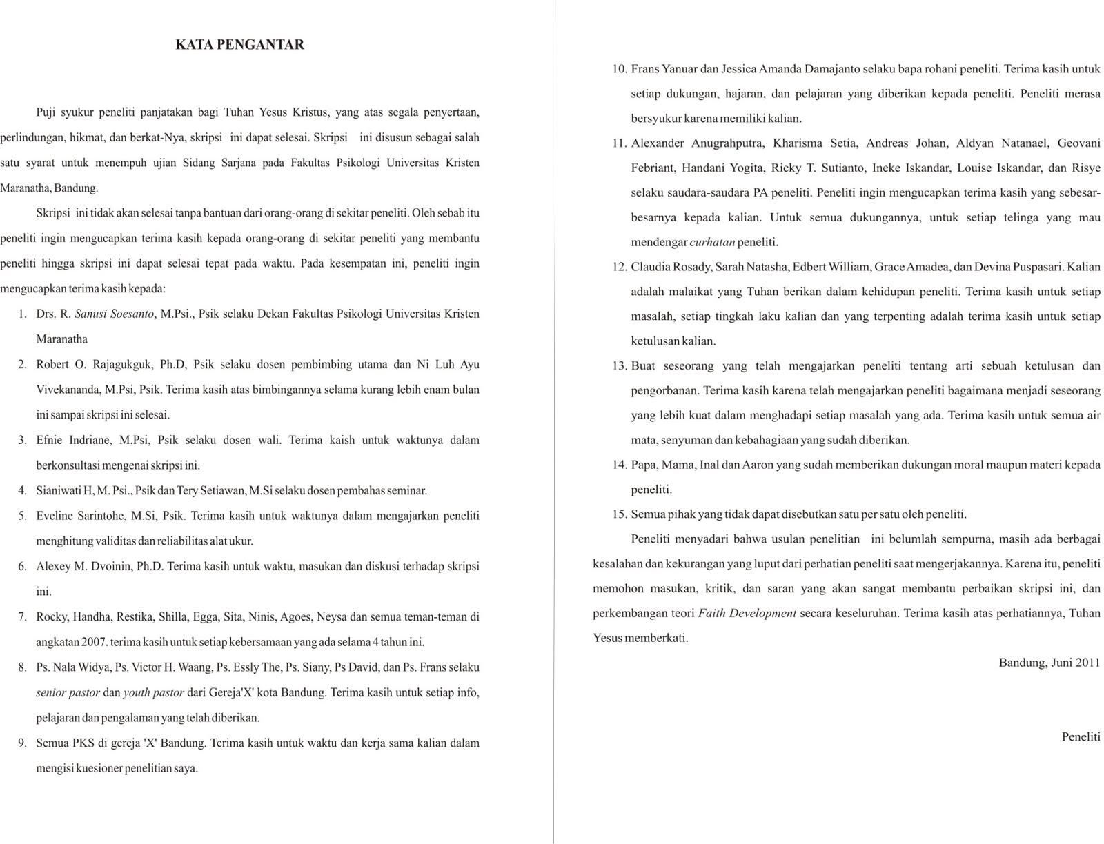 Contoh Kata Pengantar Skripsi Akuntansi Contoh Soal2