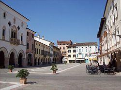 The main square - Piazza del Popolo - in San Vito al Tagliamento