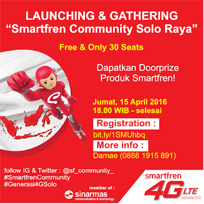 Launching & Gathering Smartfren Community Solo Raya