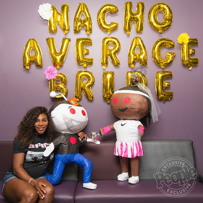Nacho average bride! Pregnant Serena Williams enjoys bridal shower with family and friends in Miami
