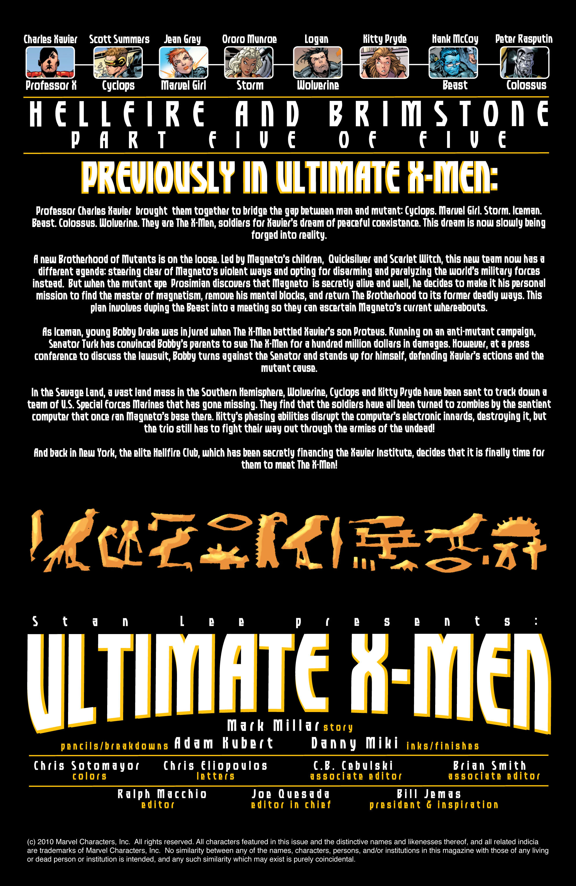 Read online Ultimate X-Men comic -  Issue #25 - 2