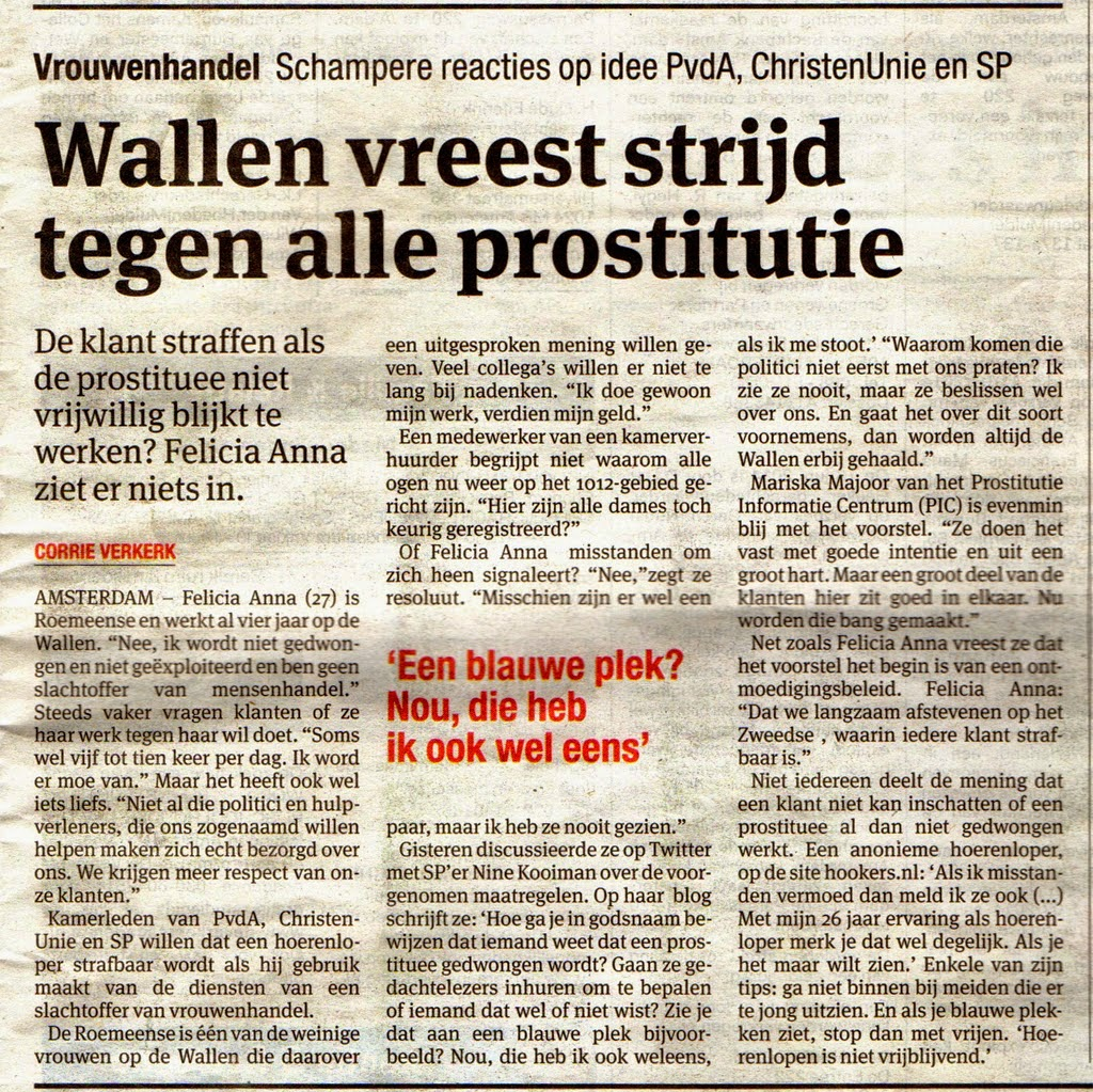 artikels over prostituees