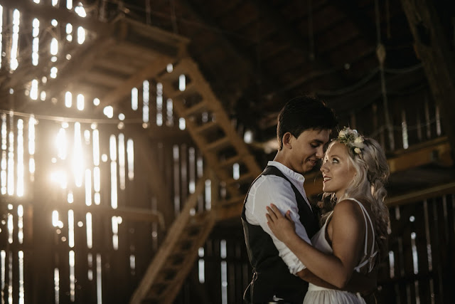 Plener ślubny w amerykańskim stylu.