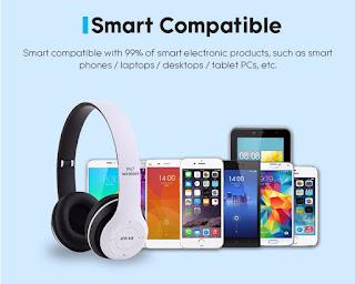 cuffie bluetooth p47 per smartphone