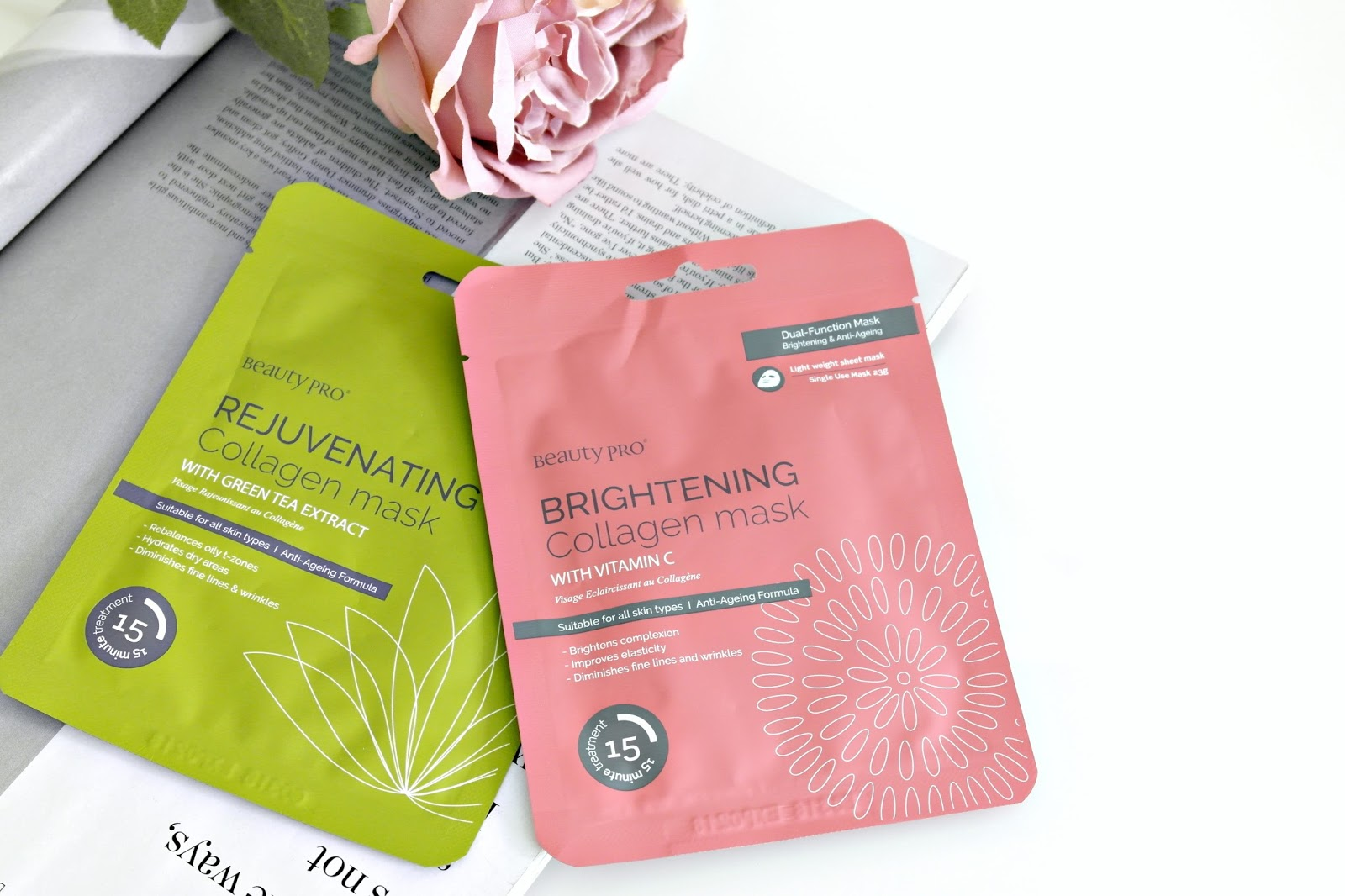 Beauty Pro collagen face masks