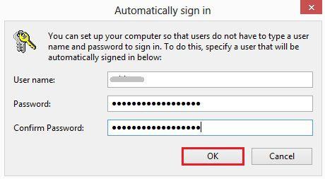 Confirmare eliminare introducere parola la deschidere Windows