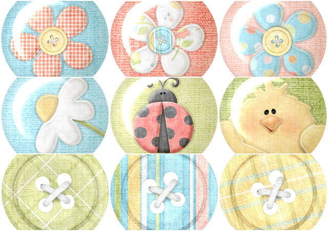 Buttons of the Tender Things Clip Art.