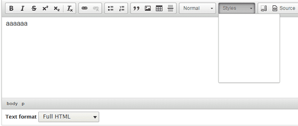 Just learning Drupal: Adding custom styles to CKEditor in