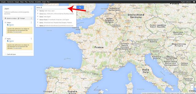 recherche carte Google Maps
